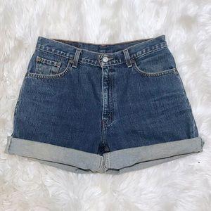 Levi's Vintage 550 Blue Denim Jean Shorts Size 10